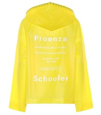 Proenza Schouler Pswl Printed Coat Yellow
