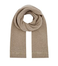 William Sharp Embellished Scarf Brown