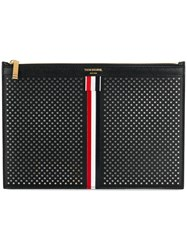 Thom Browne Small Zipper Tablet Holder 29.5X20cm With Red Black