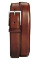 Magnanni Men's Big And Tall Catania Leather Belt Brown