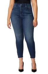 Rebel Wilson X Angels Plus Size Women's The Vamp Crop High Waist Skinny Jeans Harbour
