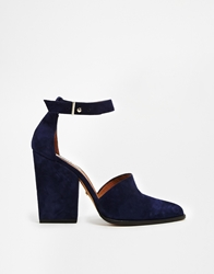 Whistles Poppy 2 Part Heeled Shoes Blue