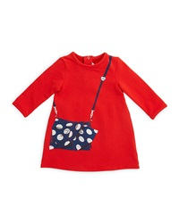 Little Marc Jacobs Long Sleeve Tromp L'oeil A Line Dress Red Size 12M 3