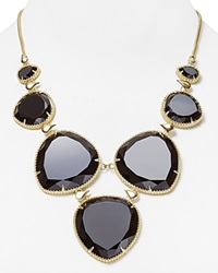 Kendra Scott Rebecca Necklace 18 Bloomingdale's Exclusive Black Opaque Glass Gold