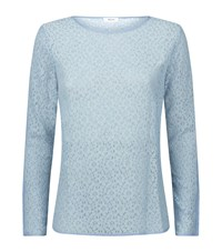 Reiss Jane Lace Top Female Sky