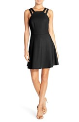 French Connection Women's Whisper Light Fit And Flare Dress New Black
