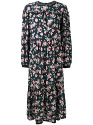 Mother Of Pearl Floral Print Georgette Dress Black