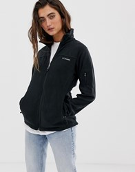 Columbia Fast Trek Ii Fleece Jacket In Black