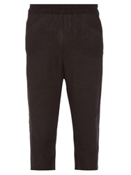 By Walid Roy Vintage Damask Cotton Trousers Black