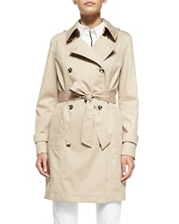 Escada Double Breasted Trenchcoat Sand Gold
