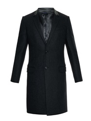 Lanvin Leather Collar Wool Overcoat