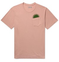 Mollusk Country Sun Printed Cotton Jersey T Shirt Pink