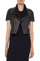 Akris Punto Women's Leather Mini Biker Jacket