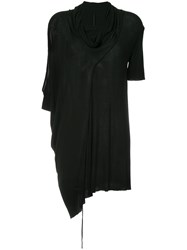 Masnada Long Draped Cut Out Sweater Black