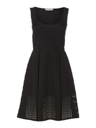 Marella Profilo Pleated Woven Dress Black