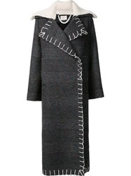 Edun Nub Check Long Coat Grey