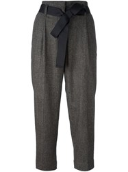 Brunello Cucinelli Cropped Trousers Brown