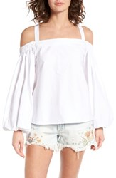 Soprano Women's Off The Shoulder Top White