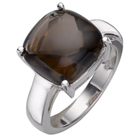 A B Davis Sterling Silver Smoky Quartz Ring Brown