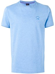 Paul And Shark Plain T Shirt Men Cotton Xxl Blue