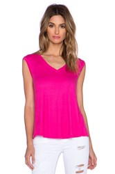 Heather V Neck Wrap Back Top Pink