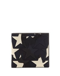 Valentino Camustars Canvas And Leather Wallet Marine Blue