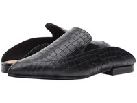 Kristin Cavallari Capri Black Croco Leather Women's Clog Shoes