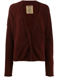 Uma Wang Dropped Shoulder Cardigan Red