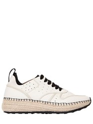 Tod's 30Mm Tumbled Leather And Mesh Sneakers