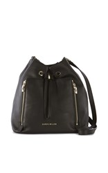 Karen Millen Zip Bucket Bag Black
