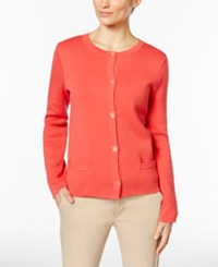 Charter Club Pocketed Cardigan Only At Macy's New Coral