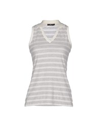 Brooksfield Topwear Polo Shirts Women Light Grey