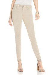 Vince Camuto Women's Two By D Luxe Stretch Twill Moto Jeans Dark Chino