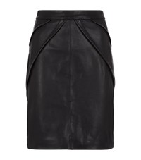 Reiss Etianne Leather Pencil Skirt Female Black