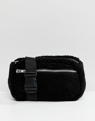 Weekday Teddy Zip Body Bag Black