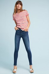 Anthropologie Dl 1961 Ryan High Rise Skinny Cropped Petite Jeans Denim Medium Blue