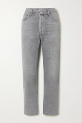 Citizens Of Humanity Mckenzie Cropped Organic Mid Rise Straight Leg Jeans Gray