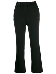 Federica Tosi High Waisted Slim Fit Trousers Black