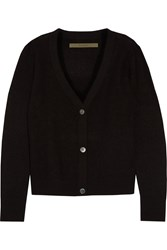 Enza Costa Wool Cardigan Black