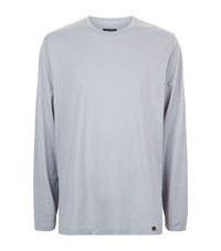 Hanro Long Sleeve Cotton Lounge Top Male Light Grey