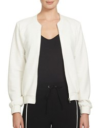 1.State Quilted Bomber Jacket Ivory