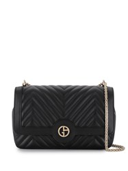 Giorgio Armani Quilted Shoulder Bag Black