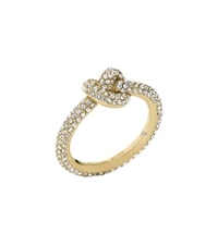 Michael Kors Pave Gold Tone Knot Ring