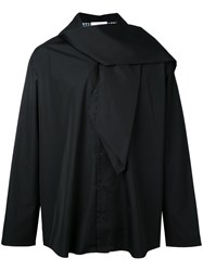 Aganovich Scarf Detail Shirt Black