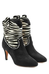 Marc Jacobs Ankle Boots With Calf Hair Multicolored