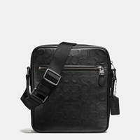 Coach Flight Bag In Signature Crossgrain Leather Black Antique Nickel Black