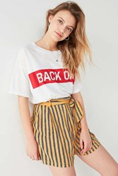 Cooperative Blanche Striped Tie Short Yellow