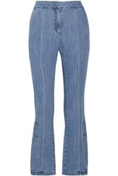 Steve J And Yoni P High Rise Flared Jeans Mid Denim