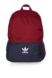 Adidas Colour Block Backpack By Originals Burgundy