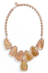 Women's Kendra Scott 'Harlow' Necklace Brown Mop Rose Gold